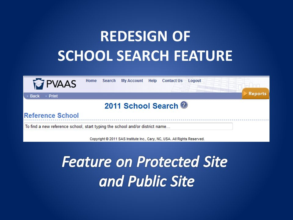 REDESIGN OF SCHOOL SEARCH FEATURE