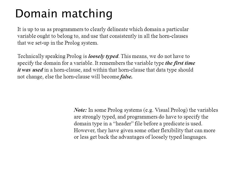 It is up to us as programmers to clearly delineate which domain a particular variable ought to belong to, and use that consistently in all the horn-cl