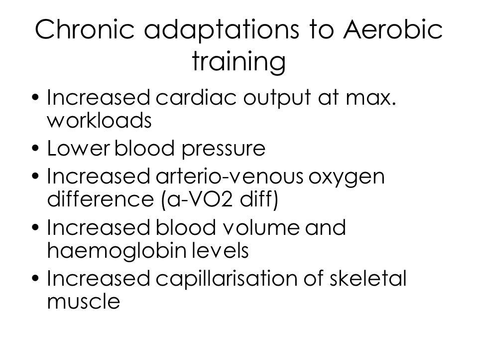 Chronic adaptations to Aerobic training RESPIRATORY ADAPTATIONS