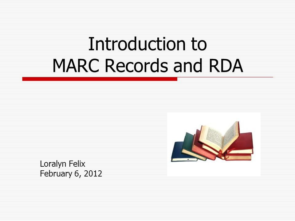 What does a MARC record look like? 12