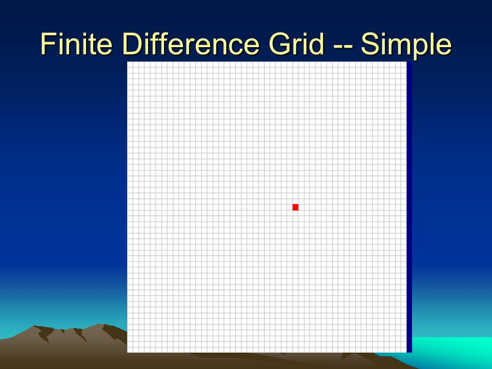Finite Difference Grid -- Simple