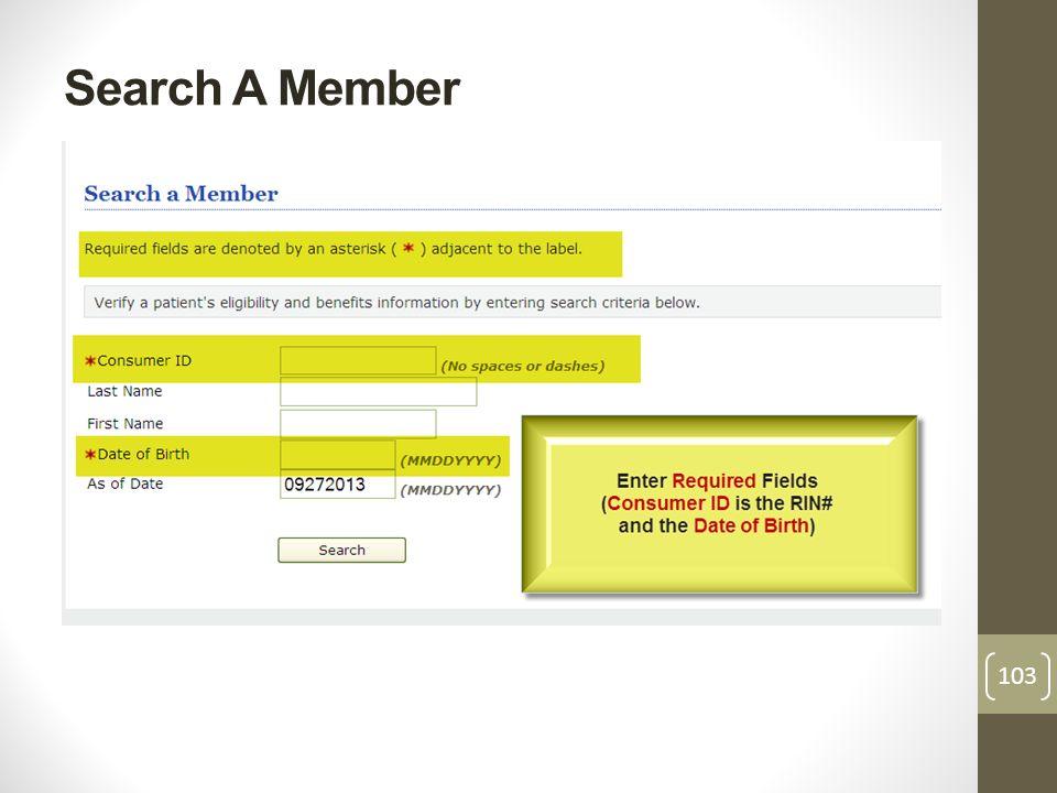 Search A Member 103