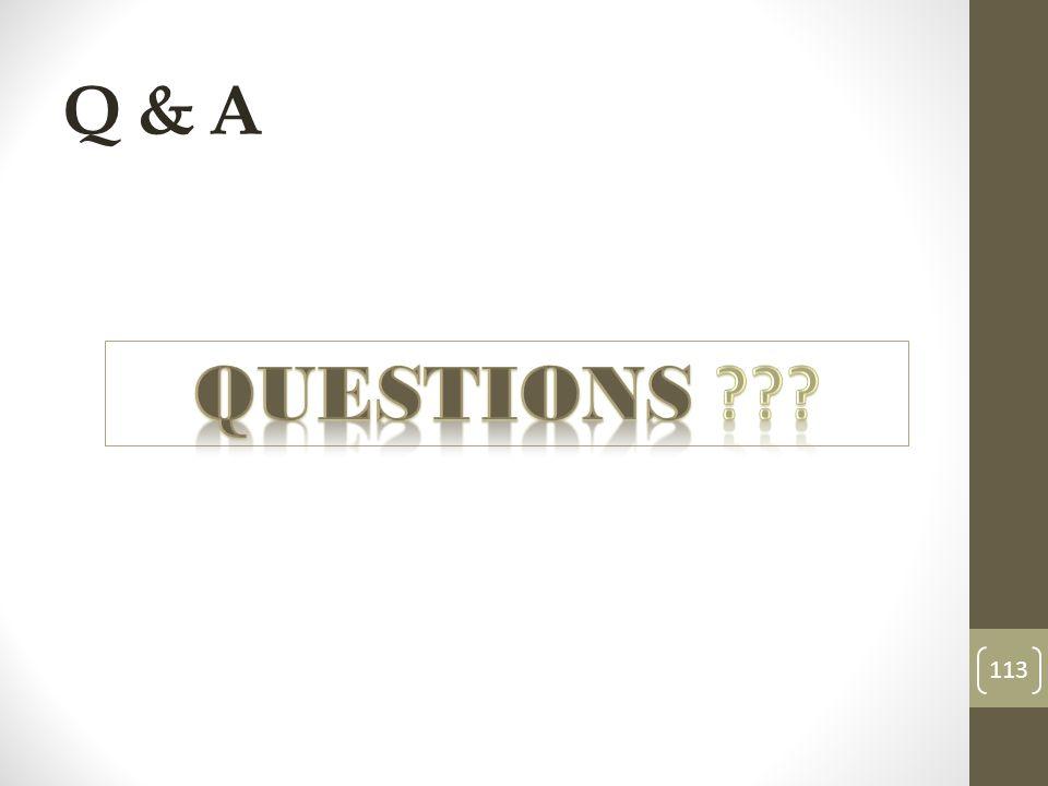 Q & A 113