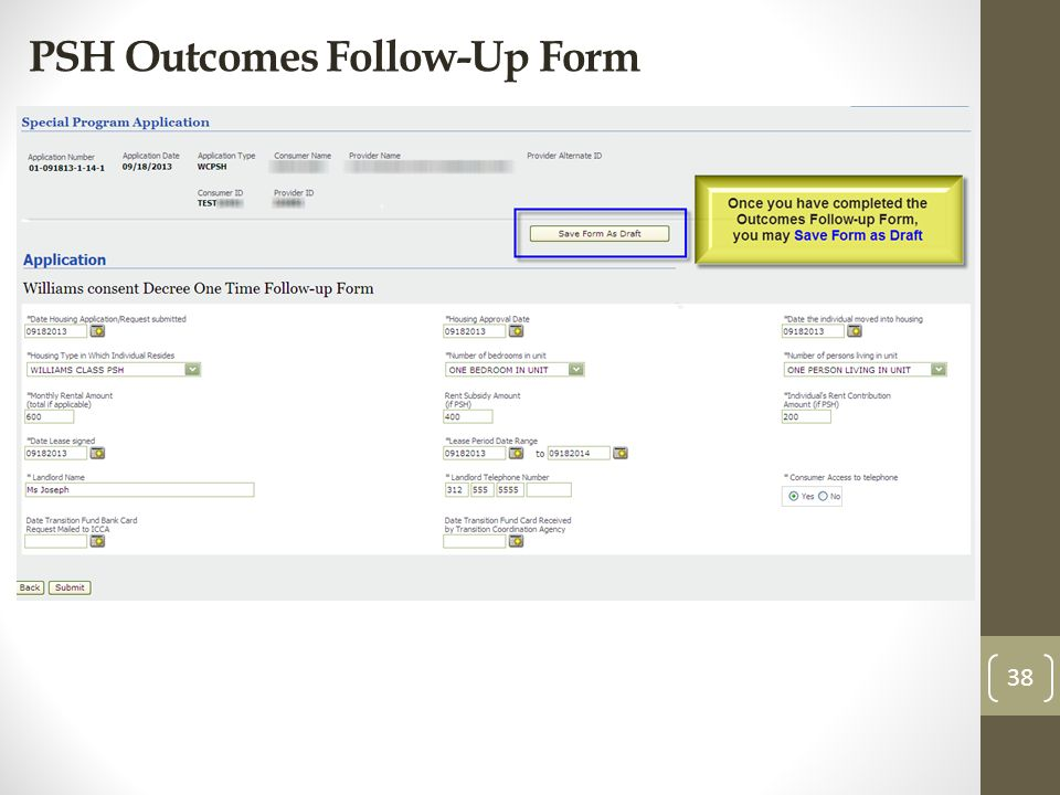 PSH Outcomes Follow-Up Form 38