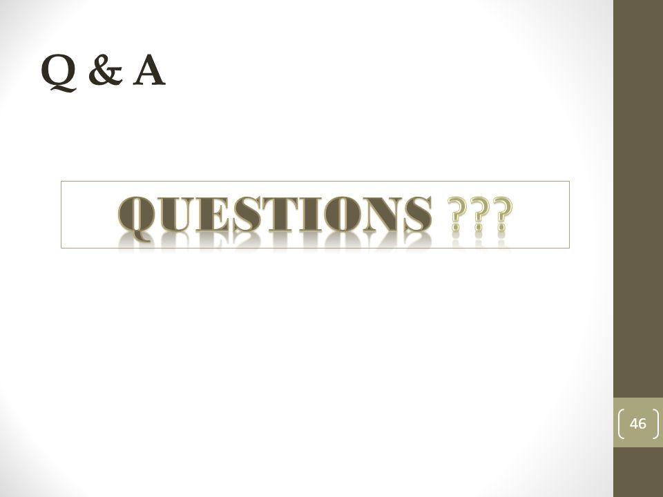 Q & A 46