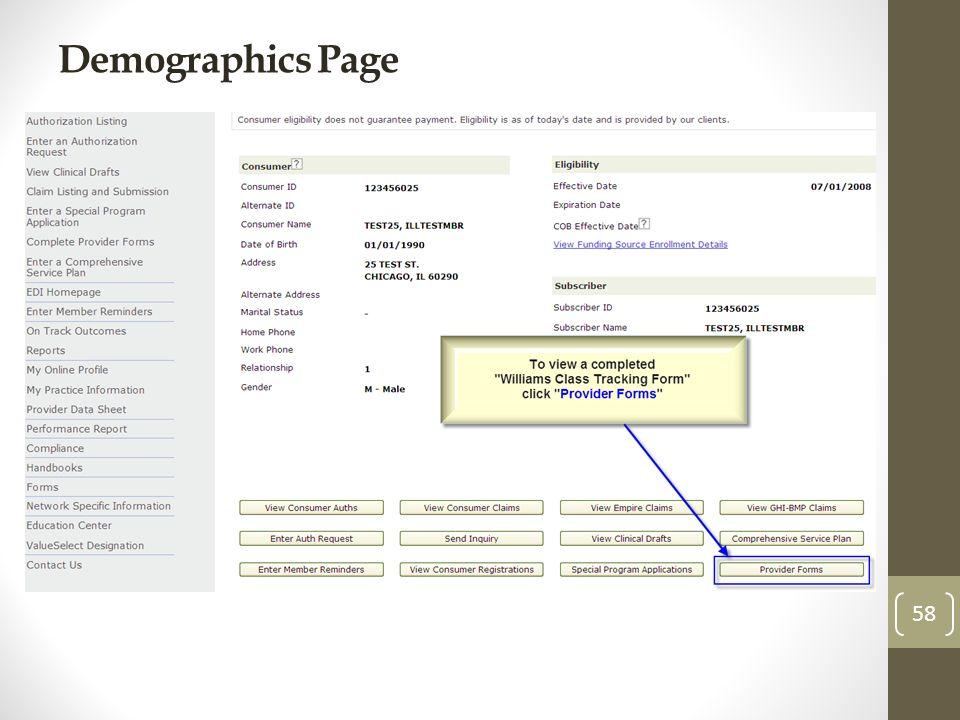 Demographics Page 58