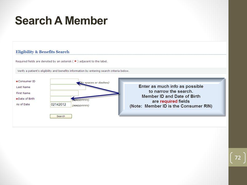 Search A Member 72