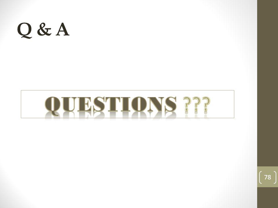 Q & A 78