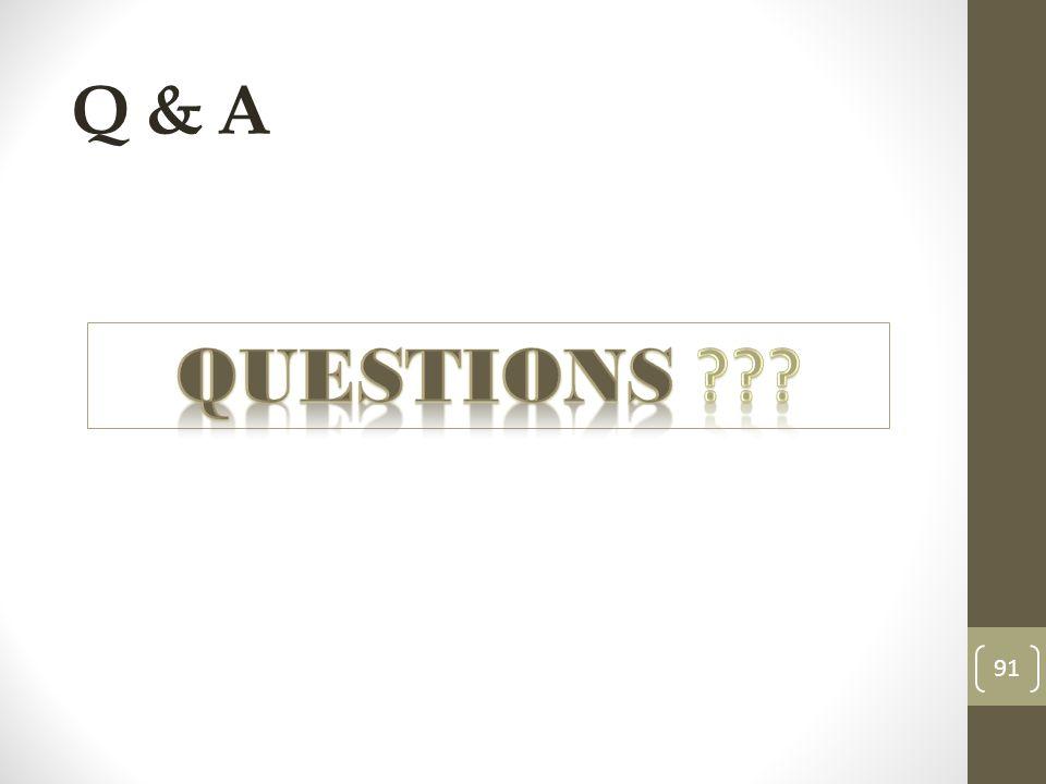 Q & A 91