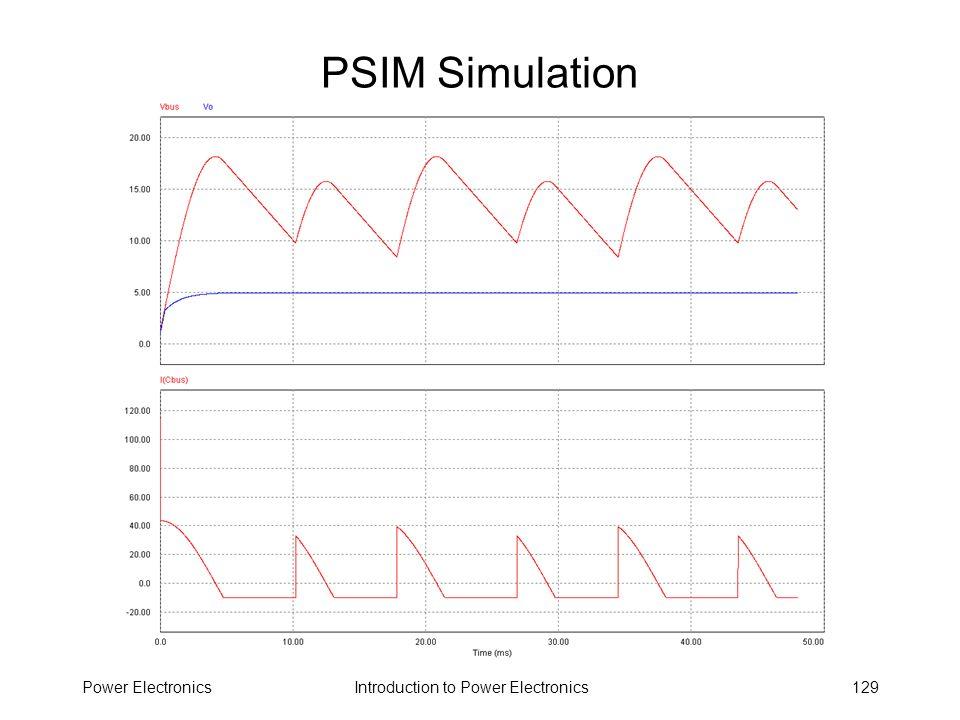 Introduction to Power ElectronicsPower Electronics129 PSIM Simulation