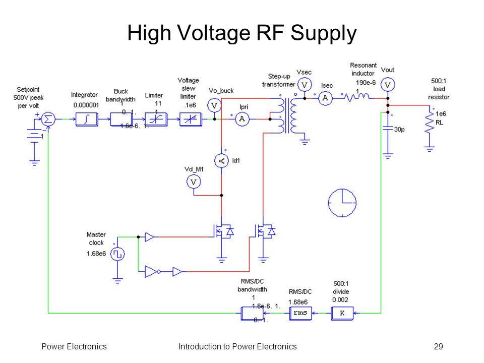 Introduction to Power ElectronicsPower Electronics29 High Voltage RF Supply
