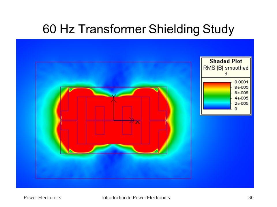 Introduction to Power ElectronicsPower Electronics30 60 Hz Transformer Shielding Study