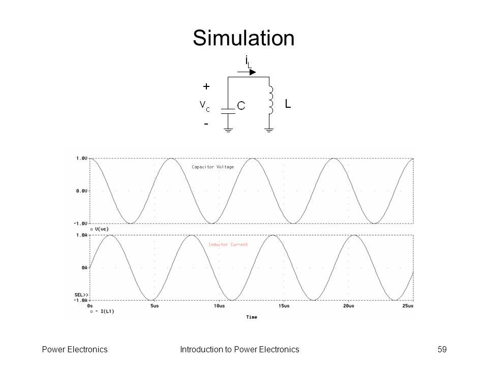 Introduction to Power ElectronicsPower Electronics59 Simulation