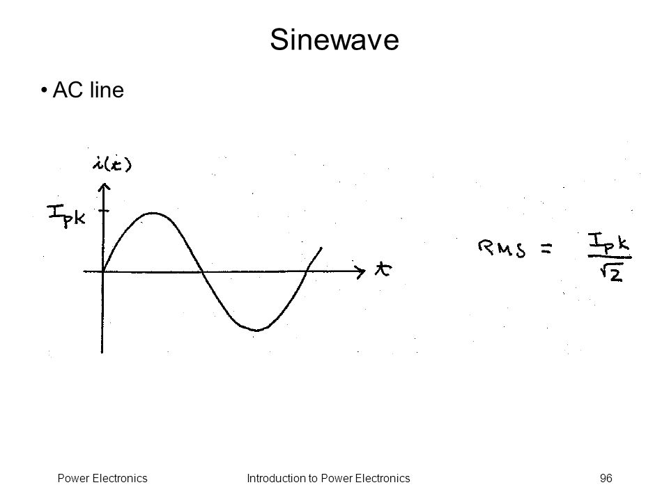 Introduction to Power ElectronicsPower Electronics96 Sinewave AC line
