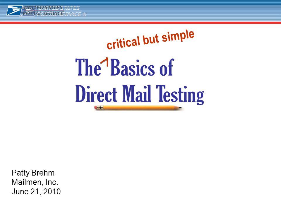 1 Patty Brehm Mailmen, Inc. June 21, 2010