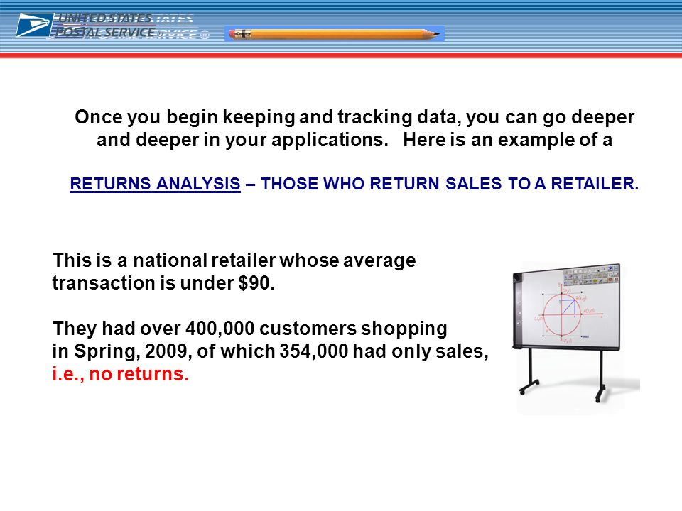 21 Once you begin keeping and tracking data, you can go deeper and deeper in your applications. Here is an example of a RETURNS ANALYSIS – THOSE WHO R