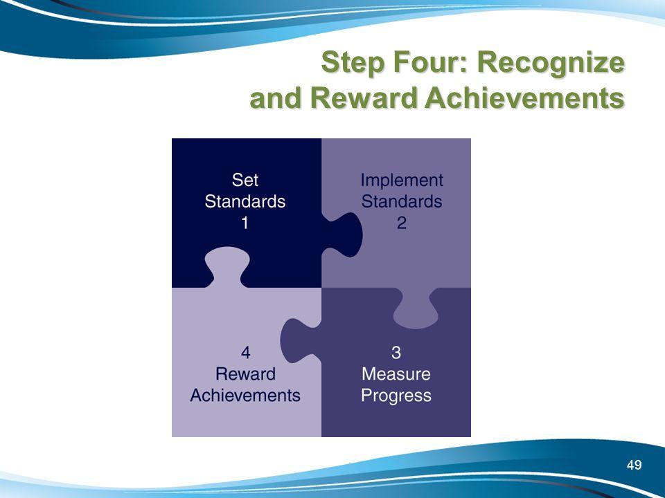 49 Step Four: Recognize and Reward Achievements