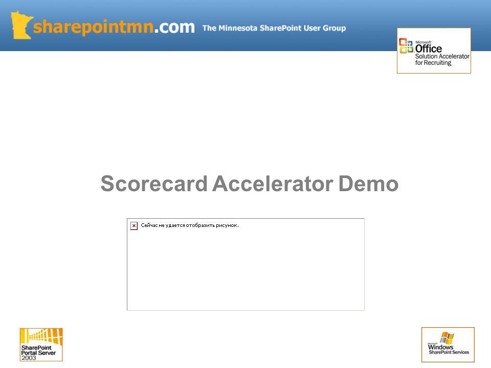 Scorecard Accelerator Demo