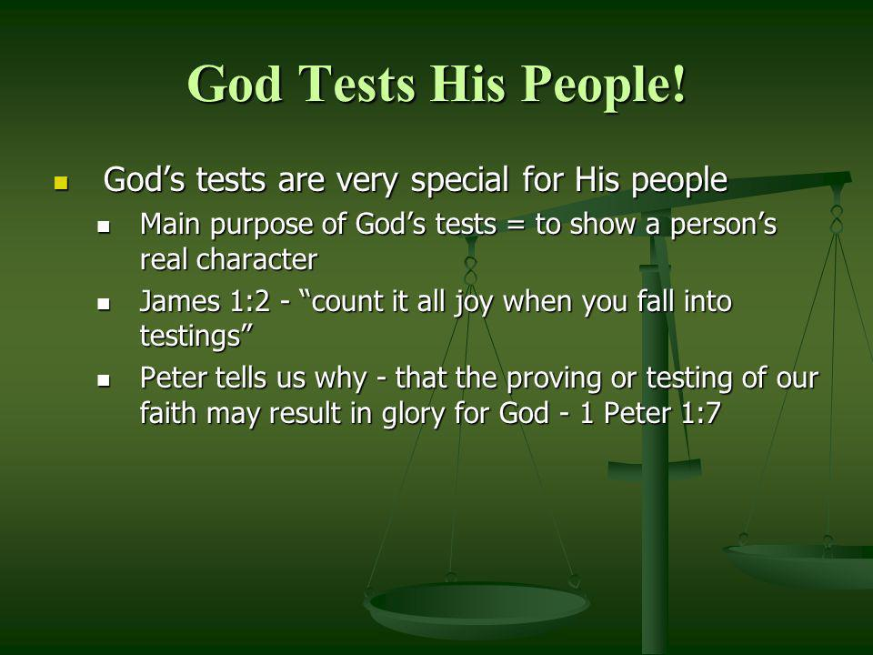 A Three Part New Years Test Biblical advice Biblical advice Lamentations 3:40 Lamentations 3:40 Let us search out (test) and examine our ways, And turn back to the LORD Let us search out (test) and examine our ways, And turn back to the LORD 2 Corinthians 13:5 2 Corinthians 13:5 Examine yourselves as to whether you are in the faith.