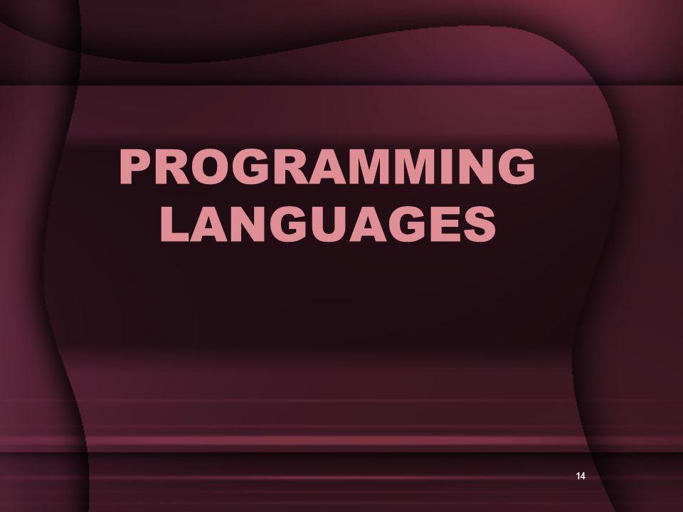 14 PROGRAMMING LANGUAGES