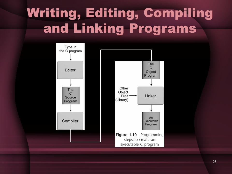 23 Writing, Editing, Compiling and Linking Programs