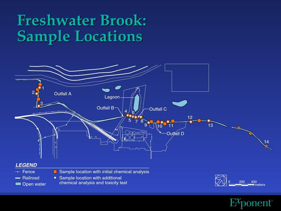 Freshwater Brook: Sample Locations