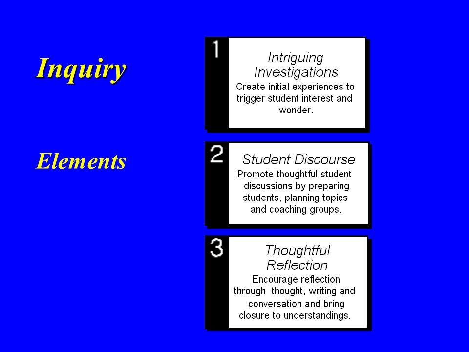 Inquiry Elements