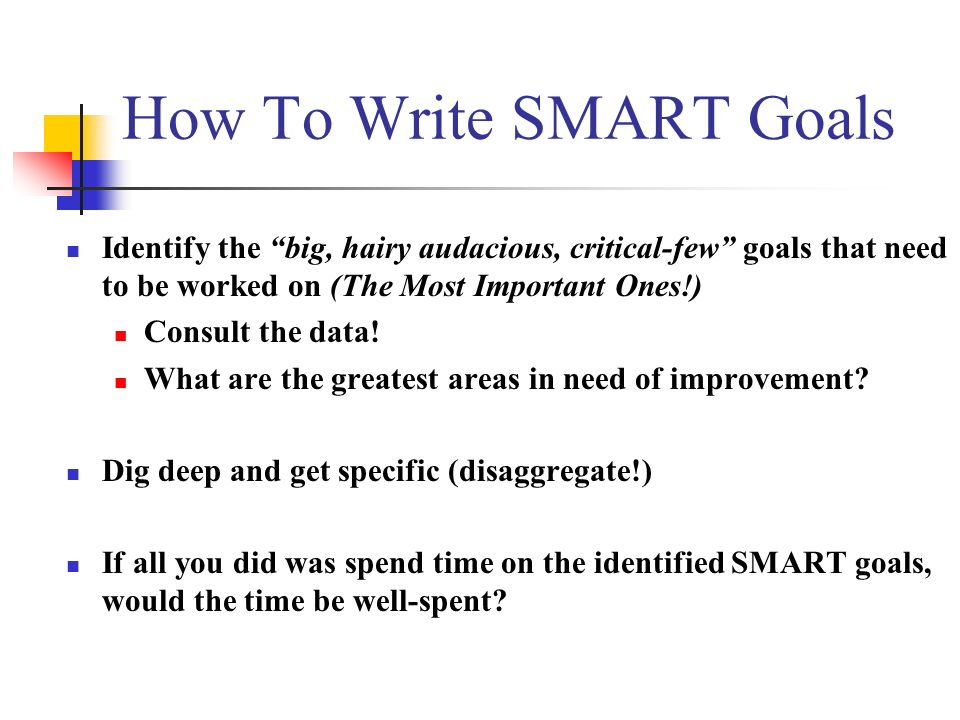 SMART Goal Forms: SMART Goal Check List (white form) PLC Norms worksheet (yellow form) Team Feedback Sheet (white form) SMART Goal Worksheet (blue form) SMART Goal Sample (green form)