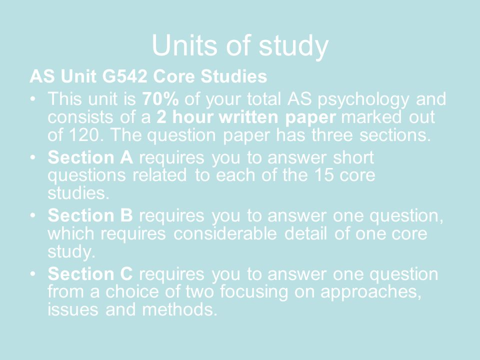 Core studies (cognitive approach) Baron-Cohen et al.