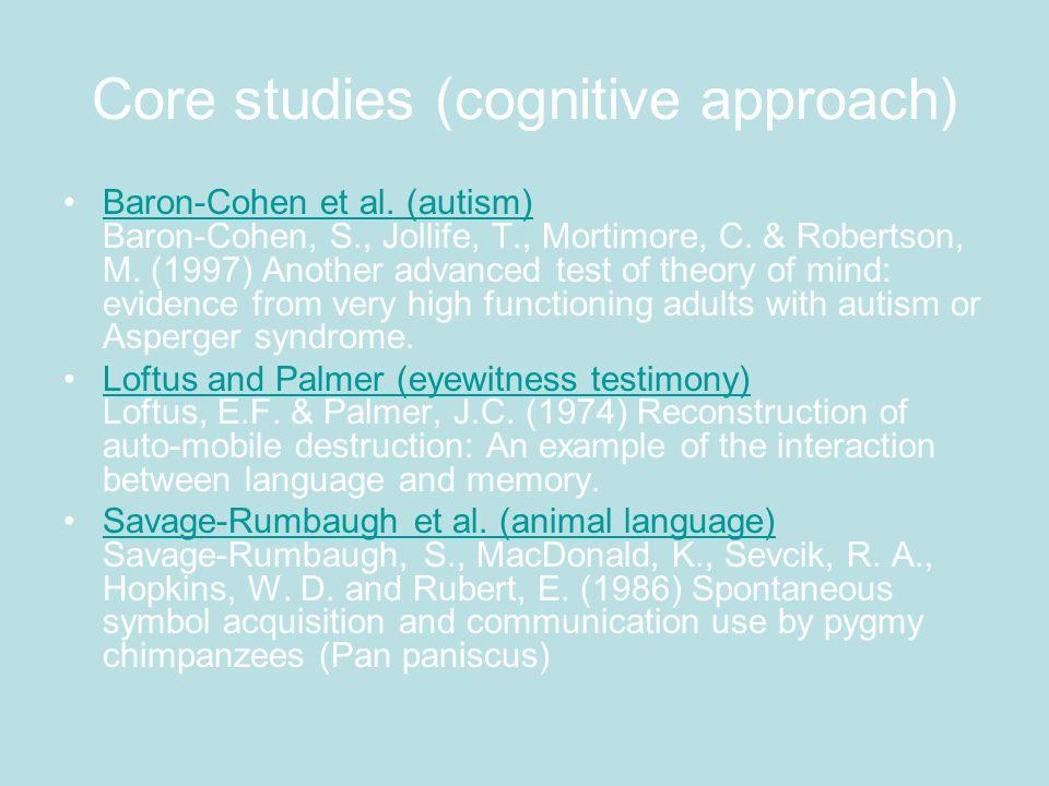 Core studies (developmental psychology)developmental psychology Samuel and Bryant (conservation) Samuel, J.