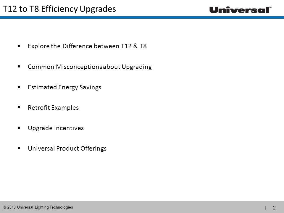 | 3 © 2013 Universal Lighting Technologies T12 vs.