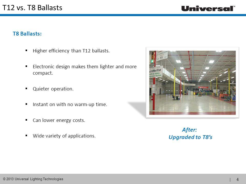 | 5 © 2013 Universal Lighting Technologies T12 vs.