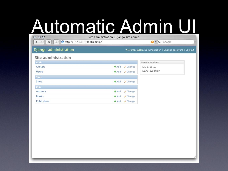 Automatic Admin UI