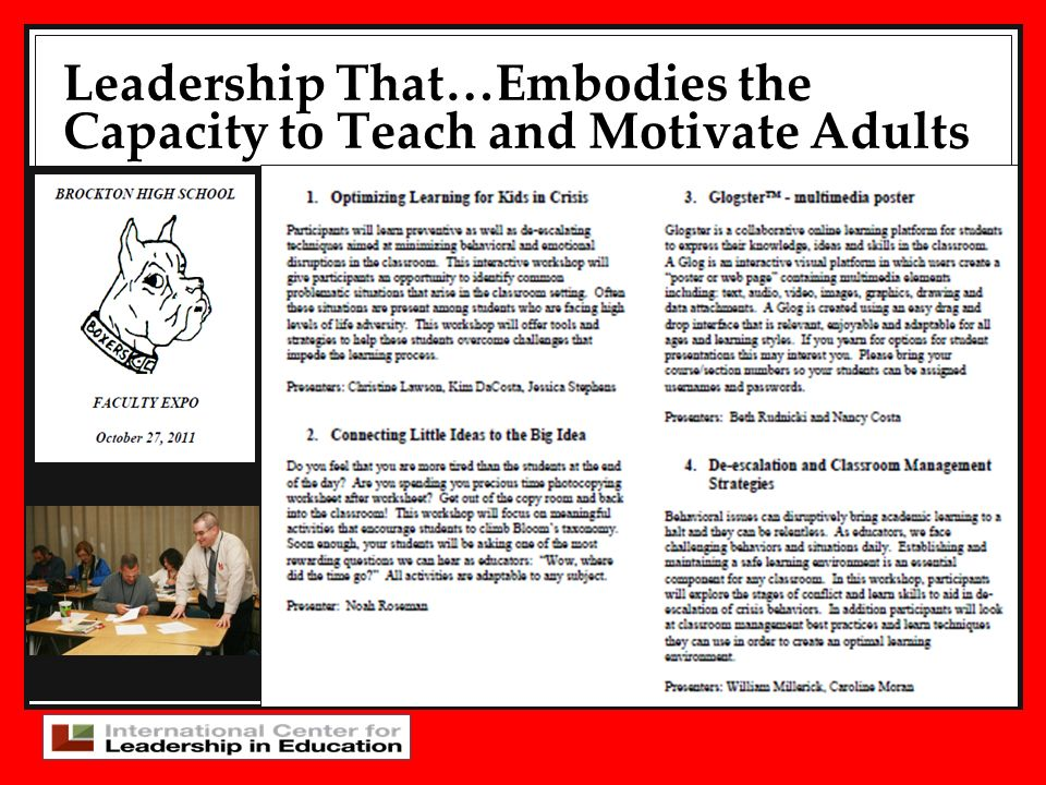Leadership That…Embodies the Capacity to Teach and Motivate Adults