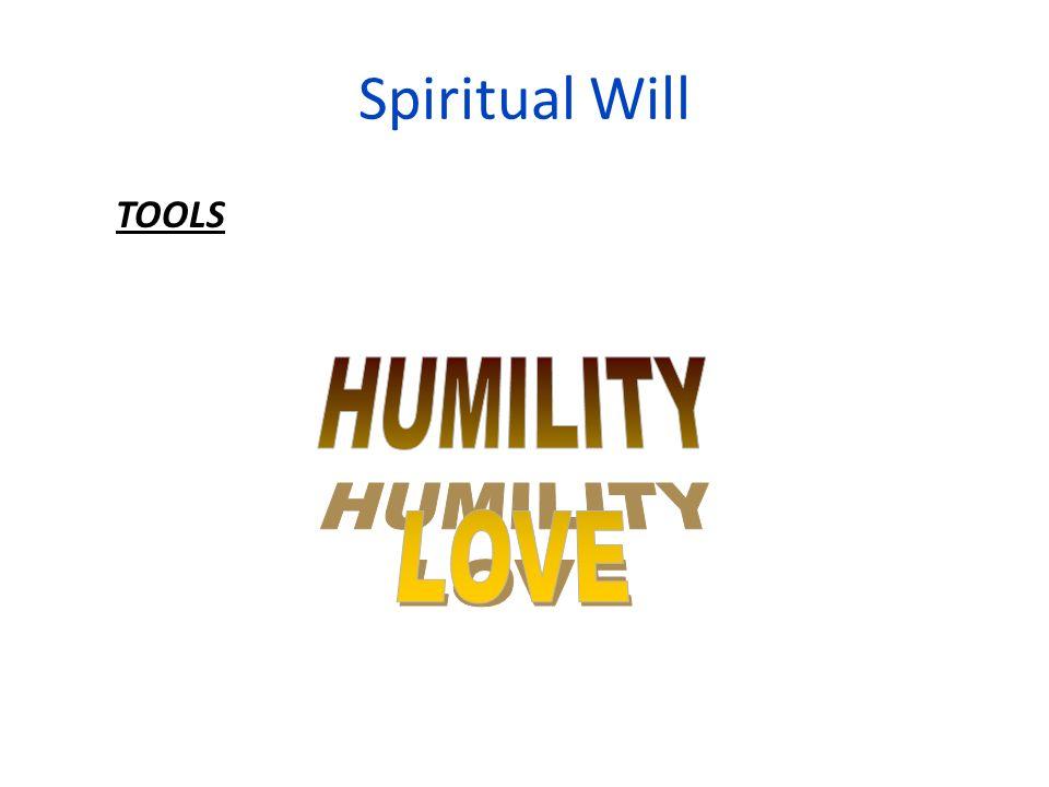 Spiritual Will TOOLS