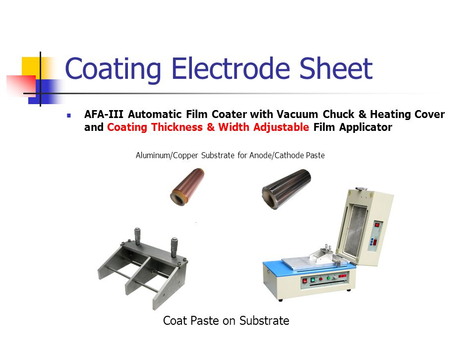 Coating Electrode Sheet AFA-III Automatic Film Coater with Vacuum Chuck & Heating Cover and Coating Thickness & Width Adjustable Film Applicator Alumi