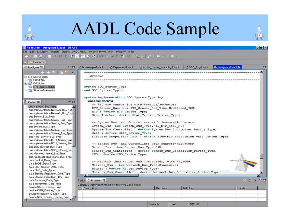 AADL Code Sample