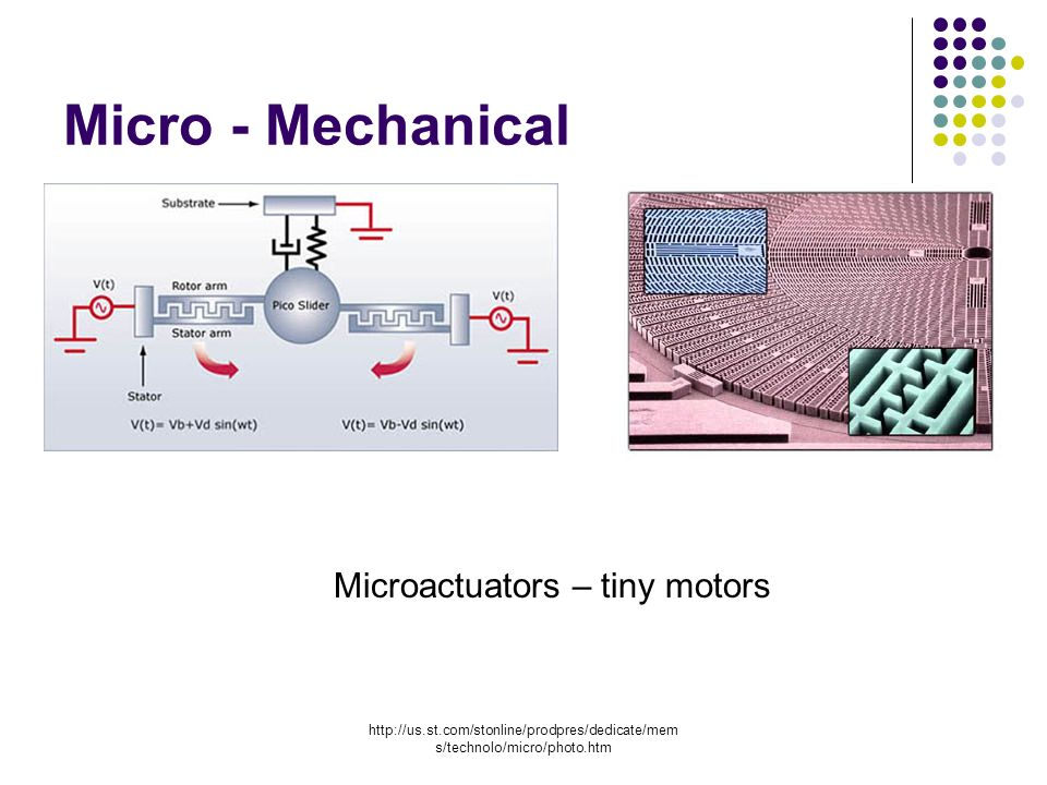 s/technolo/micro/photo.htm Micro - Mechanical Microactuators – tiny motors