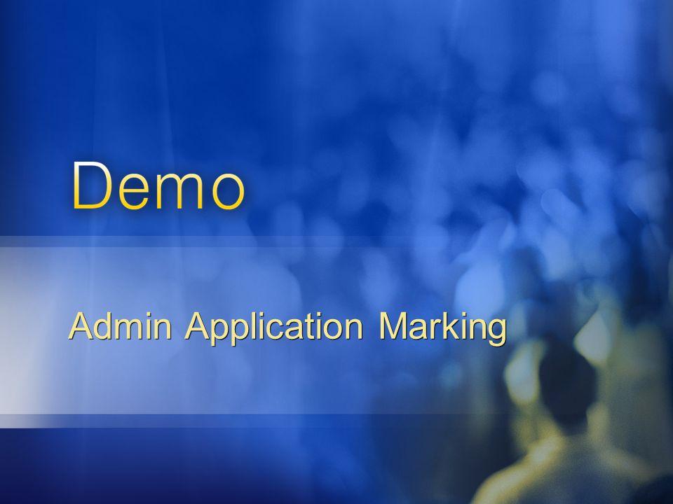 Admin Application Marking