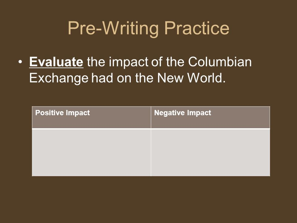 The Columbian Exchange Photo Essay