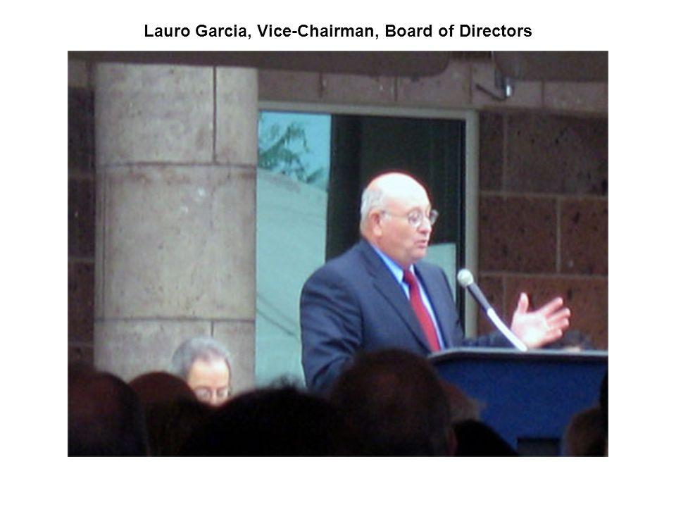 Lauro Garcia, Vice-Chairman, Board of Directors