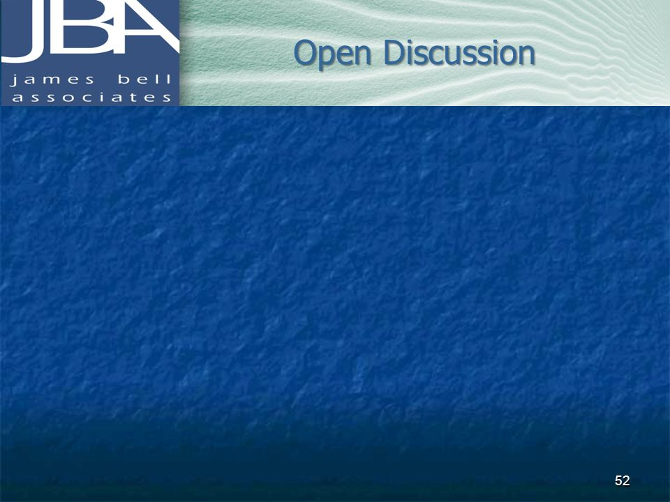 Open Discussion 52