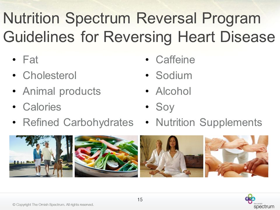 Caffeine Sodium Alcohol Soy Nutrition Supplements Nutrition Spectrum Reversal Program Guidelines for Reversing Heart Disease Fat Cholesterol Animal pr
