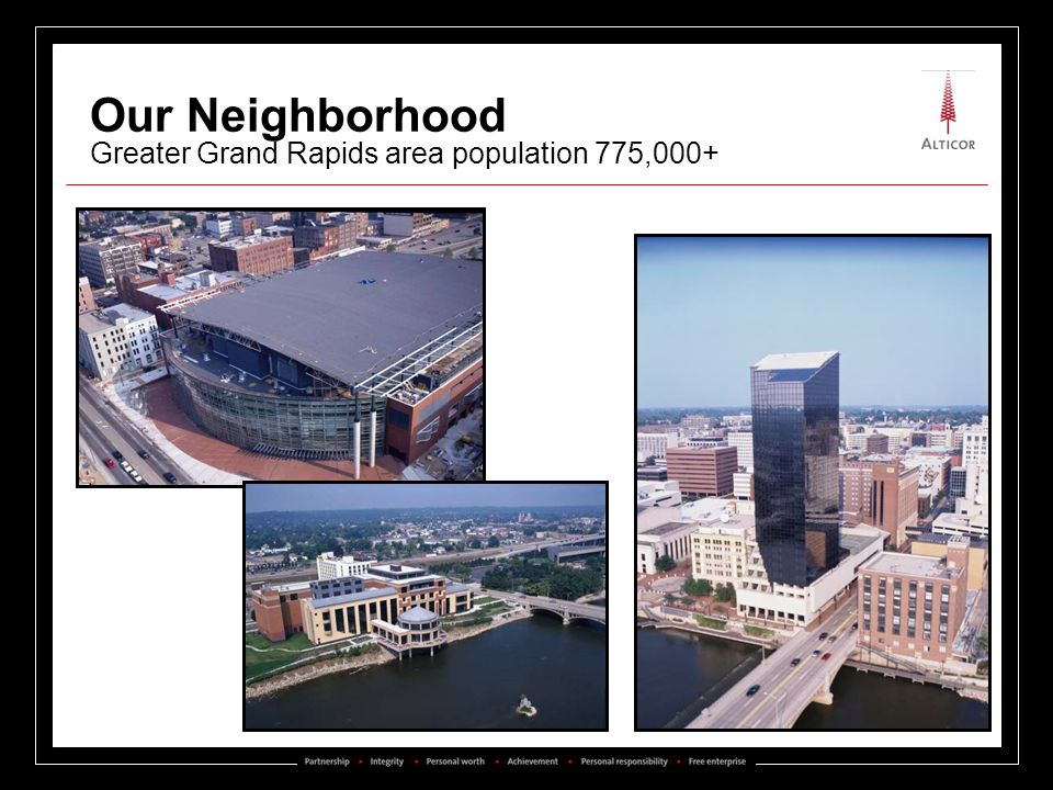 Our Neighborhood Greater Grand Rapids area population 775,000+