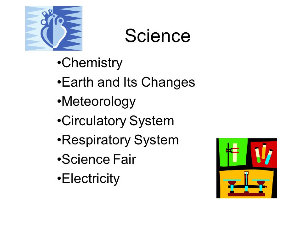 Science Chemistry Earth and Its Changes Meteorology Circulatory System Respiratory System Science Fair Electricity