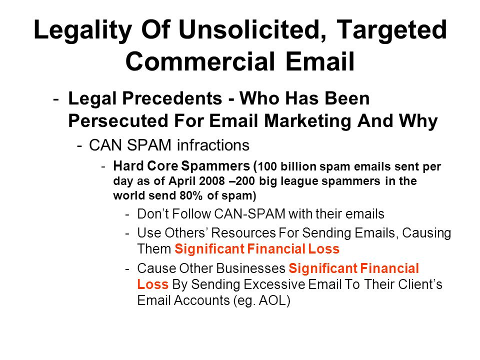 How Effective Are Targeted Commercial Email Campaigns.