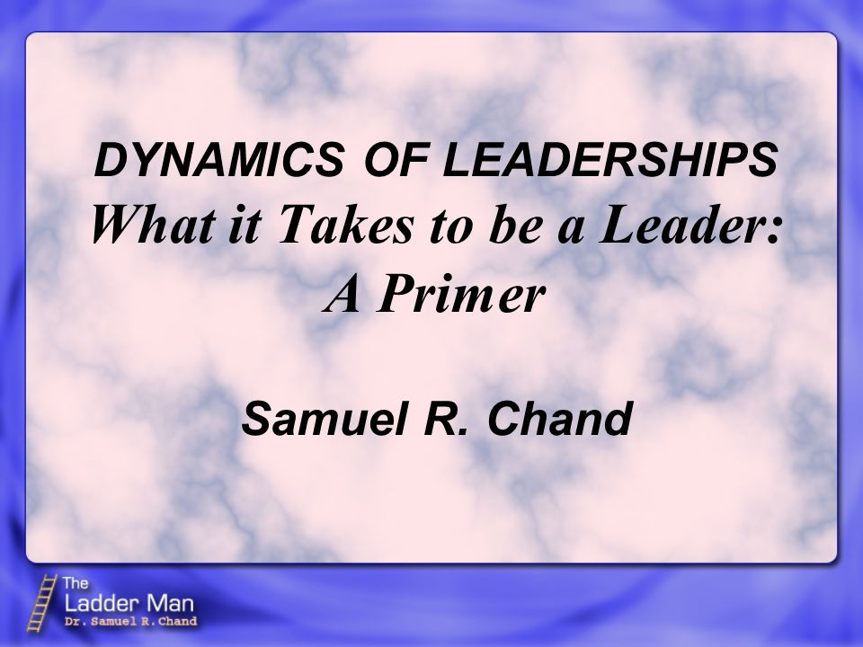 The following list, not in any priority order, is to serve as a primer for discovering the traits, ingredients and make-up of a leader.