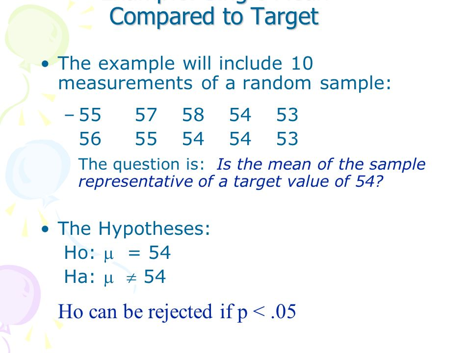See Hypothesis Testing Roadmap