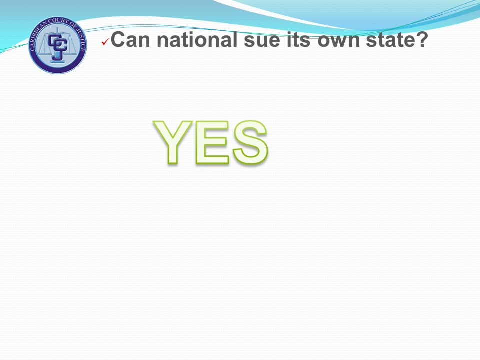 Can national sue its own state?