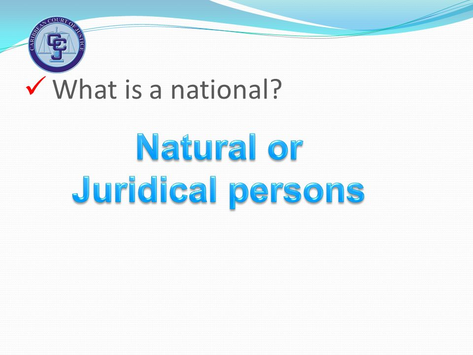 What is a national?